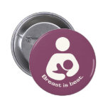 Breast Is Best Icon - Mauve 2 Inch Round Button
