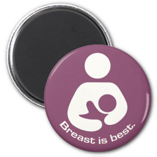 Breast Is Best Icon - Mauve Magnet