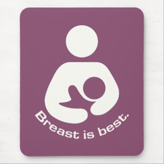 Breast Is Best Icon - Mauve Mouse Pad