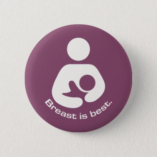 Breast Is Best Icon - Mauve Pinback Button