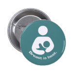 Breast Is Best Icon - Teal 2 Inch Round Button