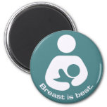 Breast Is Best Icon - Teal 2 Inch Round Magnet