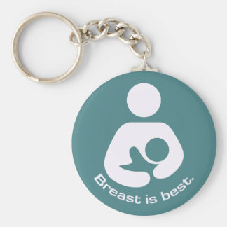 Breast Is Best Icon - Teal Keychain