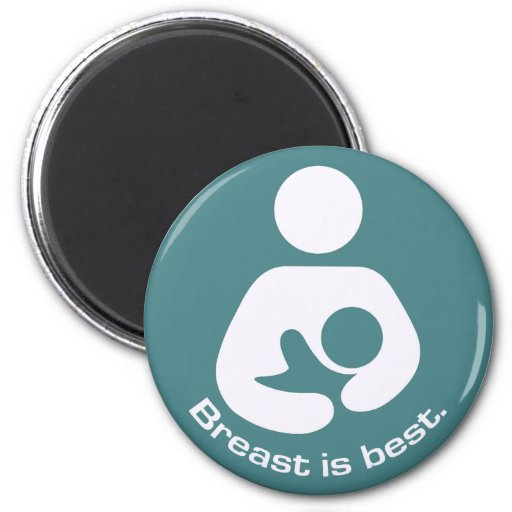 Breast Is Best Icon - Teal Magnets