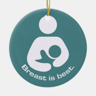 Breast Is Best - Teal Ceramic Ornament