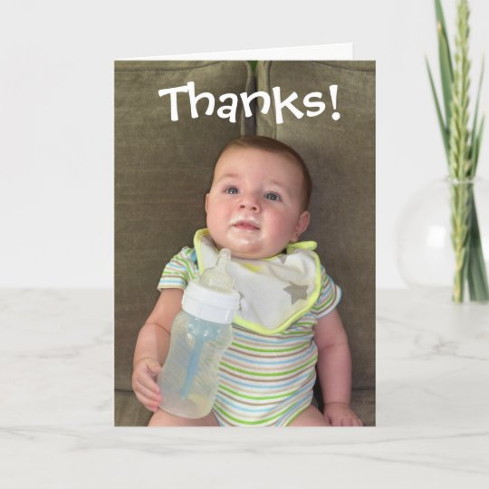 Breast Milk Thank You Card Funny Baby Cards Zazzle Com