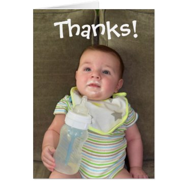 raphaela_wilson Breast Milk Thank You Card | Funny Baby Cards