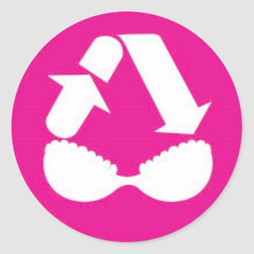 Breast Oasis Classic Round Sticker