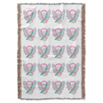 Breast & Ovarian Cancer Syndrome Ribbon Blanket