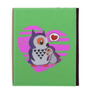 Breast owl embracing to its daughter iPad folio covers