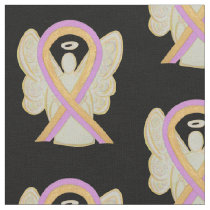 Breast Phyllodes Tumor Awareness Ribbon Angel Fabric