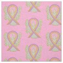Breast Phyllodes Tumor Awareness Ribbon Material Fabric