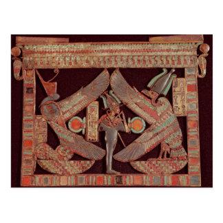 Breast plate depicting Osiris, god of Postcard