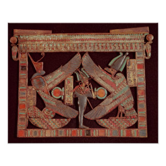Breast plate depicting Osiris god of Print