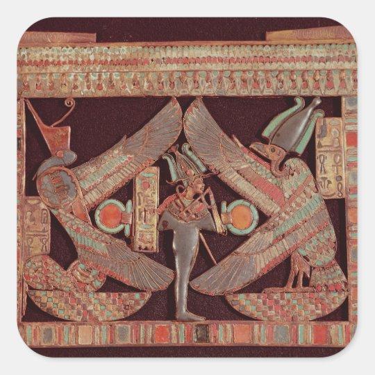 Breast plate depicting Osiris, god of Square Sticker