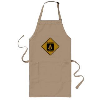 Breastfeeder At Work (Yellow Diamond Warning Sign) Long Apron