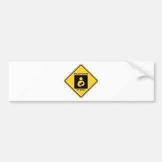 Breastfeeder en el trabajo (señal de peligro amari pegatina para auto