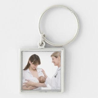 Breastfeeding advice from a doctor keychain