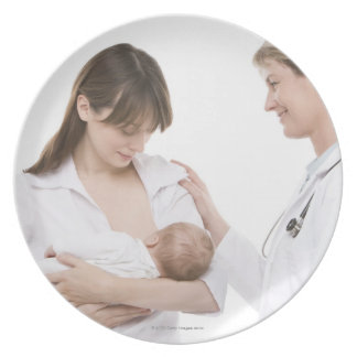Breastfeeding advice from a doctor plate