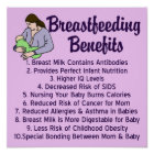 Breastfeeding Benefits Top 10 List for Nursing Poster