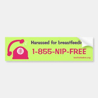 Breastfeeding Harassment Hotline Bumper Sticker