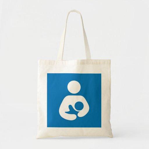breastfeeding icon canvas bags