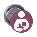 Breastfeeding Icon - Mauve 2 Inch Round Button