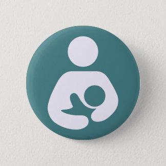 Breastfeeding Icon - Mauve Button