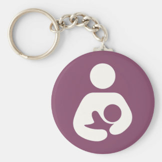 Breastfeeding Icon - Mauve Keychain