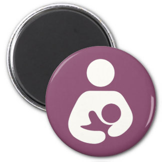 Breastfeeding Icon - Mauve Magnets