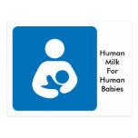 breastfeeding icon postcard