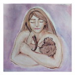 Breastfeeding mother and baby posters