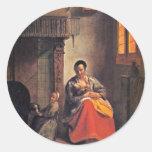 Breastfeeding Mother By Hooch Pieter De Stickers