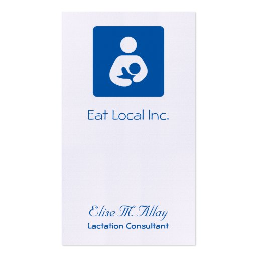 Breastfeeding / Nursing Icon Double-Sided Standard Business Cards (Pack Of 100)