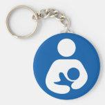 Breastfeeding / Nursing Icon Basic Round Button Keychain