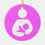 Breastfeeding / Nursing Icon Double-Sided Ceramic Round Christmas Ornament