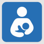 Breastfeeding / Nursing Icon Square Sticker