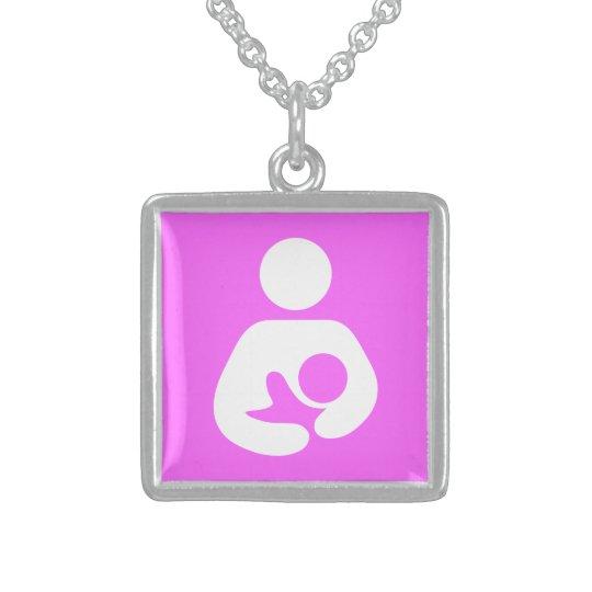Breastfeeding / Nursing Icon Sterling Silver Necklace