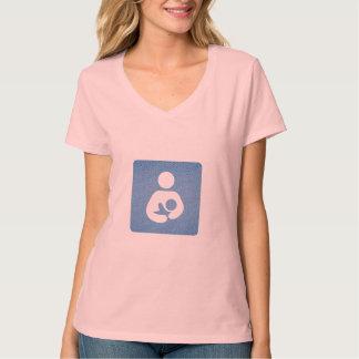 Breastfeeding / Nursing Icon Textured Light Look T-Shirt