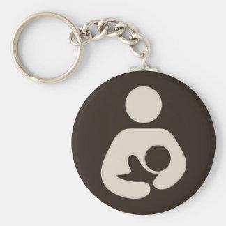 Breastfeeding / Nursing Symbol Brown Keychain