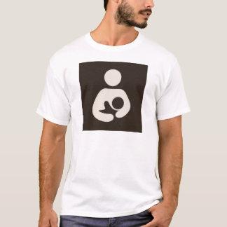 Breastfeeding / Nursing Symbol Brown T-Shirt