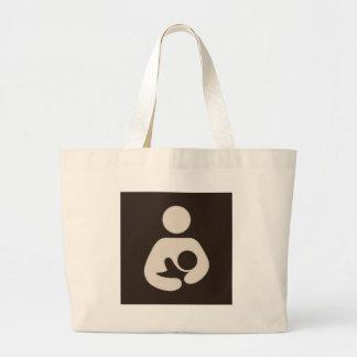 Breastfeeding / Nursing Symbol Brown Tote Bags