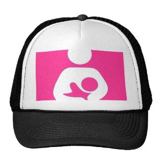 breastfeeding / Nursing Symbol Strawberry Trucker Hat