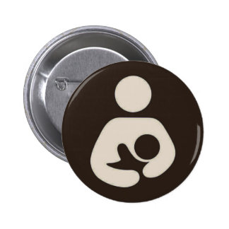 Breastfeeding Symbol Pinback Brown Pins