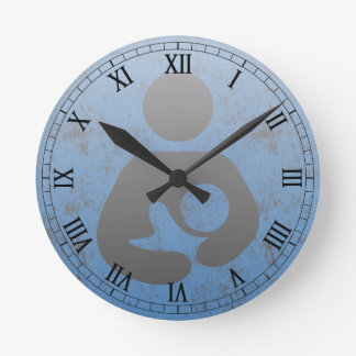 Breastfeeding  Symbol Retro Letterpress style Round Clock