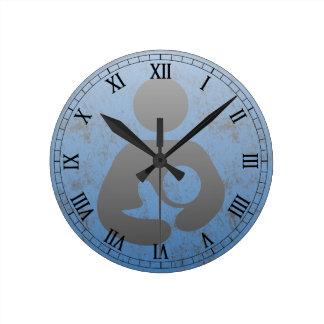 Breastfeeding  Symbol Retro Letterpress style Round Wall Clock