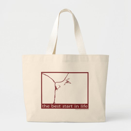 Breastfeeding - the best start in life large tote bag