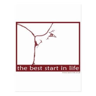 Breastfeeding - the best start in life postcard