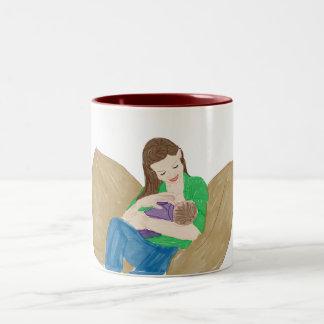 Breastfeeding Two-Tone Coffee Mug