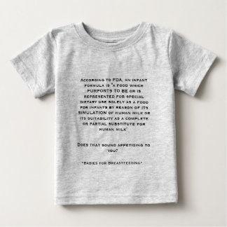 Breastfeeding vs. Formula Baby T-Shirt